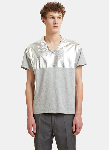 Metallic Slogan T-Shirt