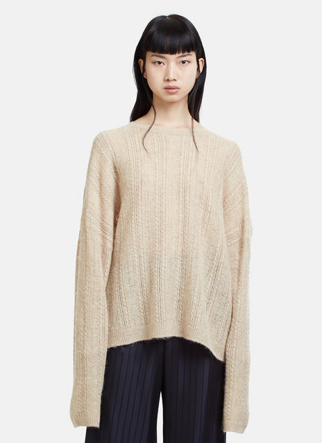 Acne Studios Theda Cable Knit Sweater