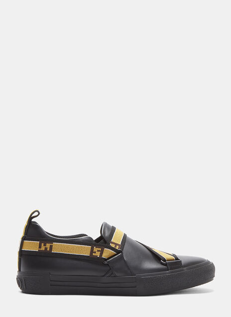 Fendi Elastic Strap Slip-On Sneakers