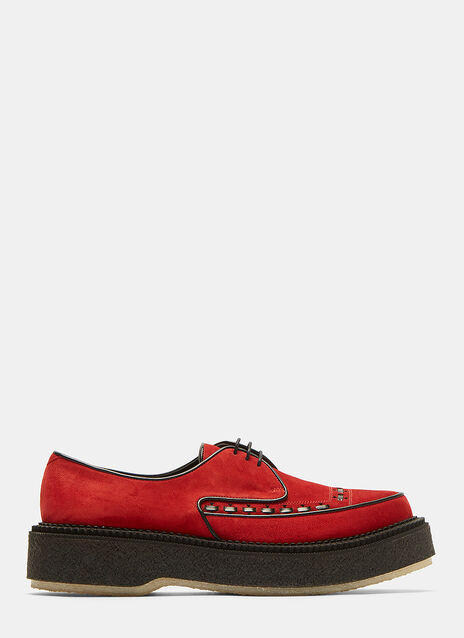 Type 101 Suede Platform Brogue Shoes