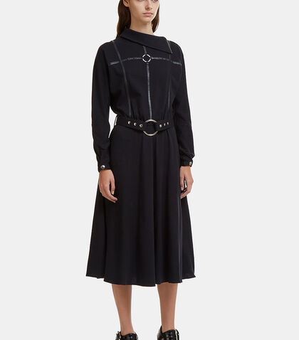 Funnel Neck Hardware Dress