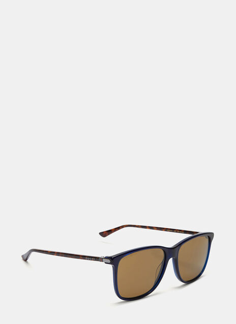 Contrast Arm Squared Sunglasses