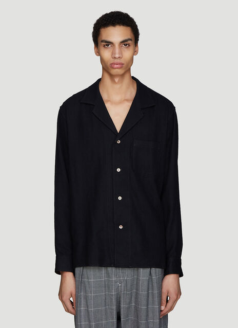 Sulvam Notched Collar Wool Shirt