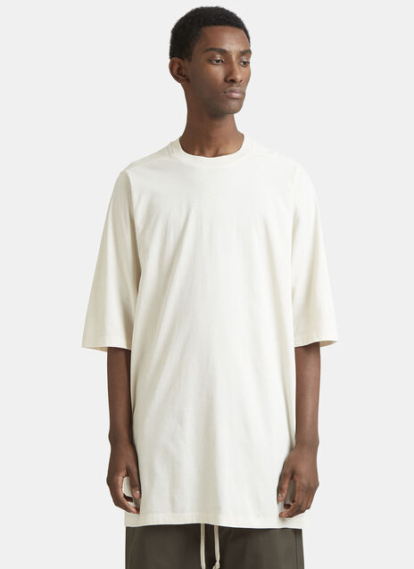 Rick Owens Oversized Crew Neck Cotton T-Shirt