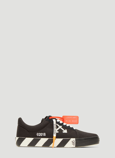 Off-White Striped Sole Tennis Sneakers