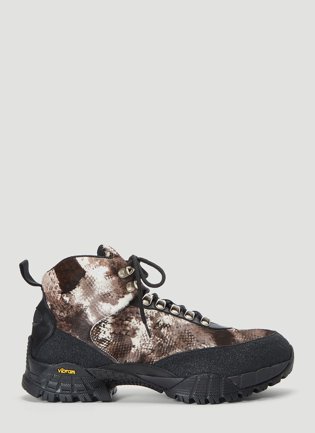 1017 ALYX 9SM Textured Hiking Boots in Brown | LN CC