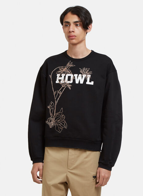 Oamc Howl Embroidered Sweatshirt