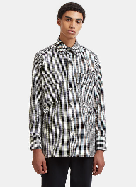 Wales Bonner Isaiah Checked Patch Pocket Shirt