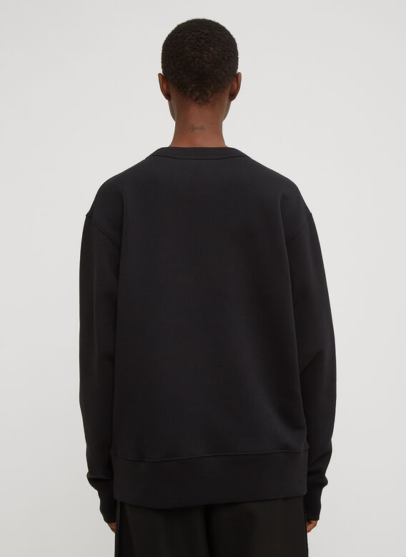 Acne Studios Fairview Oversized Face Embroidered Sweater 4