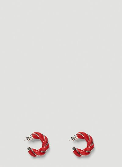 Bottega Veneta Twisted Leather Earrings