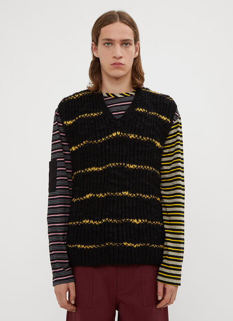 Marni Striped Knit Vest