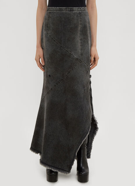 Oliver Theyskens Hook and Eye Asymmetric Skirt