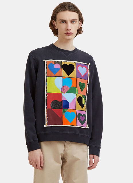 JW Anderson Hearts Grid Sweater