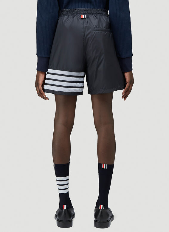 Thom Browne MID THIGH SHORTS W/ 4 BAR IN SHEER RIPSTOP 4