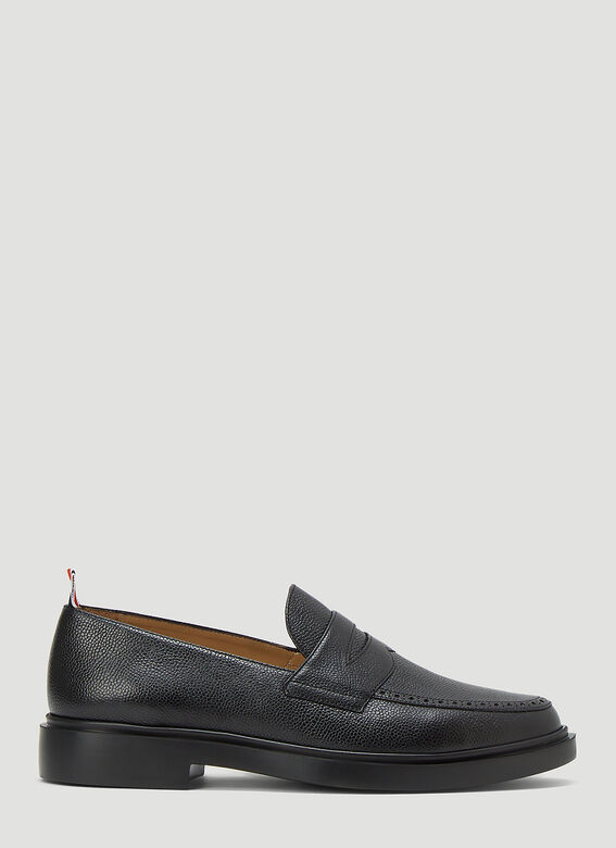Thom Browne PENNY LOAFER W/ TONAL LIGHTWEIGHT RUBBER SOLE IN PEBBLE GRAIN 1
