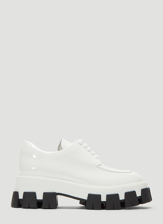 Prada Shoes Chunky Patent Lace-up Shoes