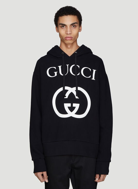 Gucci Hooded Interlocking G Sweater