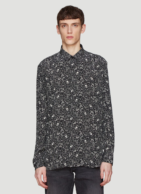 Saint laurent Skull Print Shirt