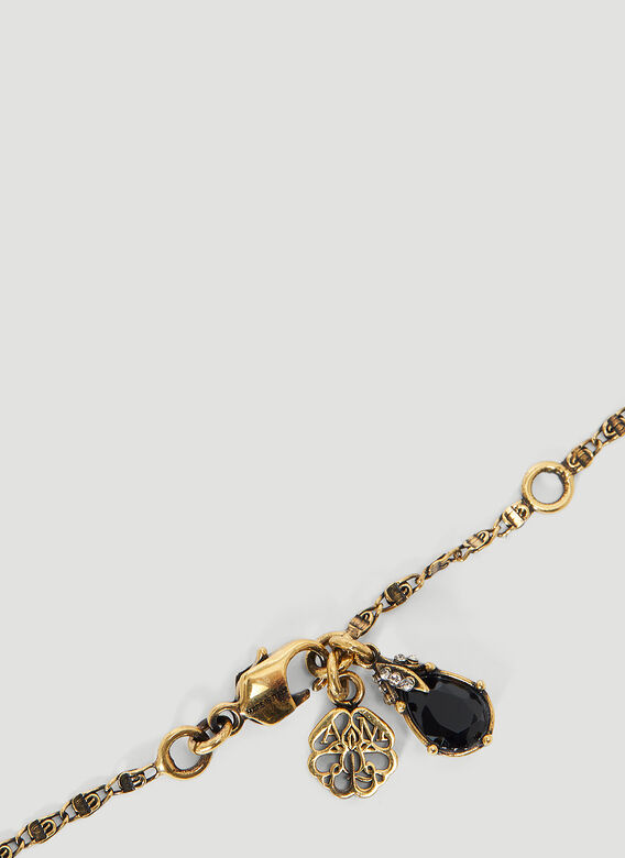 ALEXANDER MCQUEEN Necklaces Long Jewelled Drop Necklace in Silver