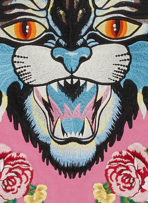Gucci Angry Cat Velvet Cushion 3