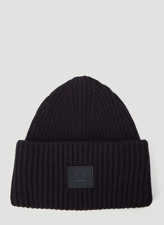 Acne Studios Ribbed-Knit Beanie Hat 1
