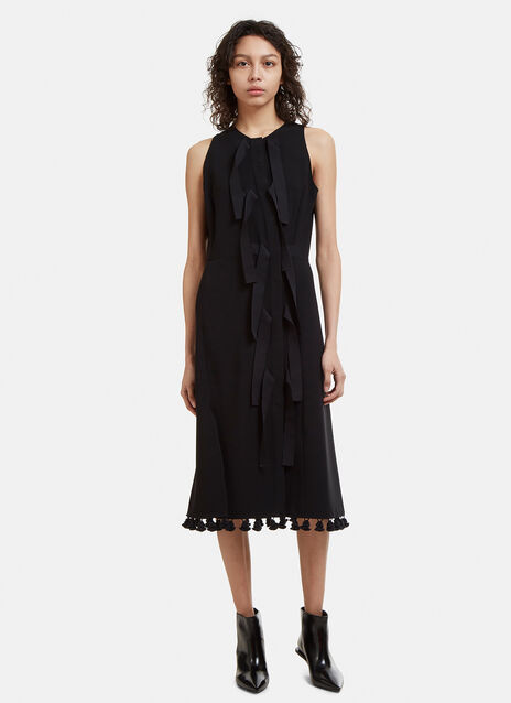 Altuzarra Sleeveless Pom-Pom Trim Dress