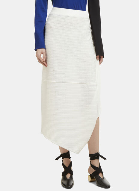 JW Anderson Infinity Asymmetric Linen Ribbed Skirt