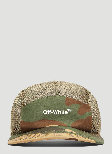 Off-White Camouflage Mesh 5 Panel Cap