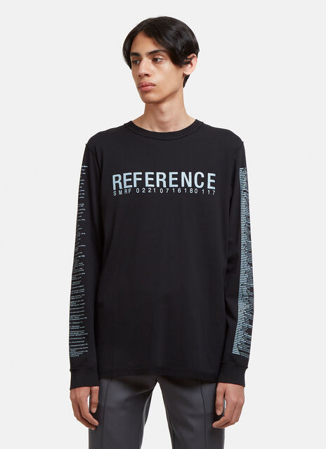 Yang Li Long Sleeve Reference Print T-Shirt