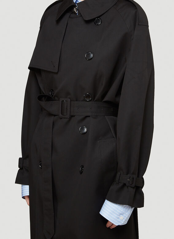 Vetements Logo-Patch Trench Coat 5