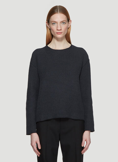 Our Legacy Raw Round Neck Waffle Knit Sweater