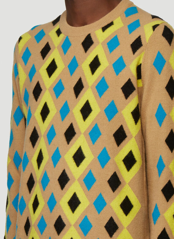Pringle of Scotland ABSTRACT CAMEL PULLOVER 5