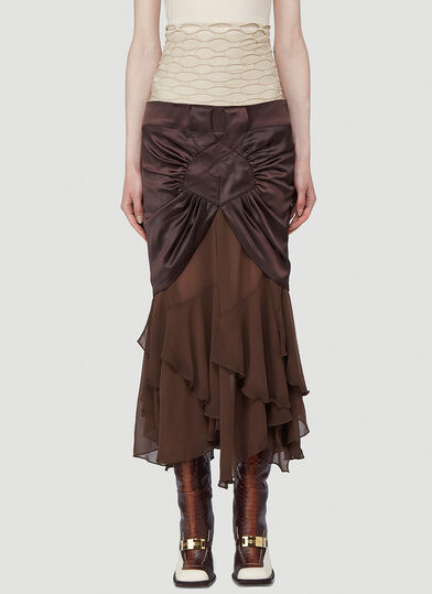 Section 8 Triple Skirt in Brown