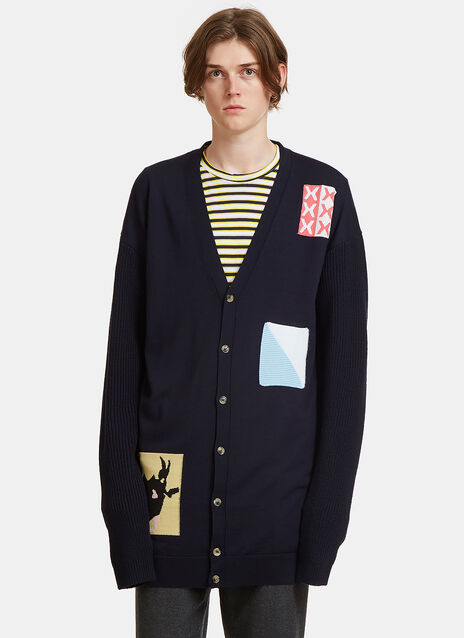 JW Anderson Oversized Crochet Patch Cardigan