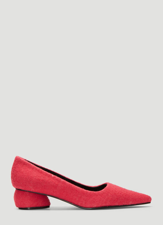 Flat Apartment PINK FURRY POINTED FLAT HEELS 1