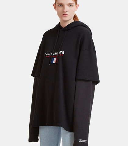 Double Sleeves Hooded Sweater