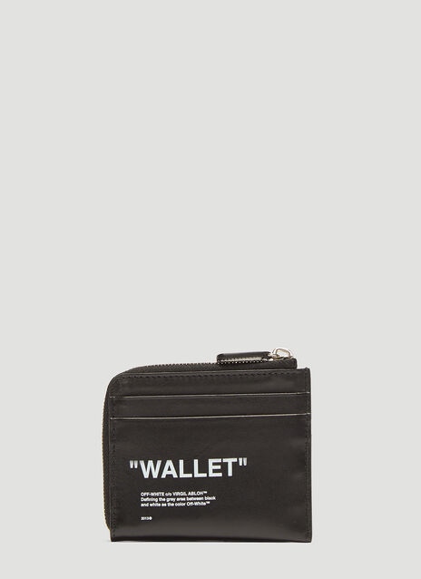 Off-White Half Zip Wallet