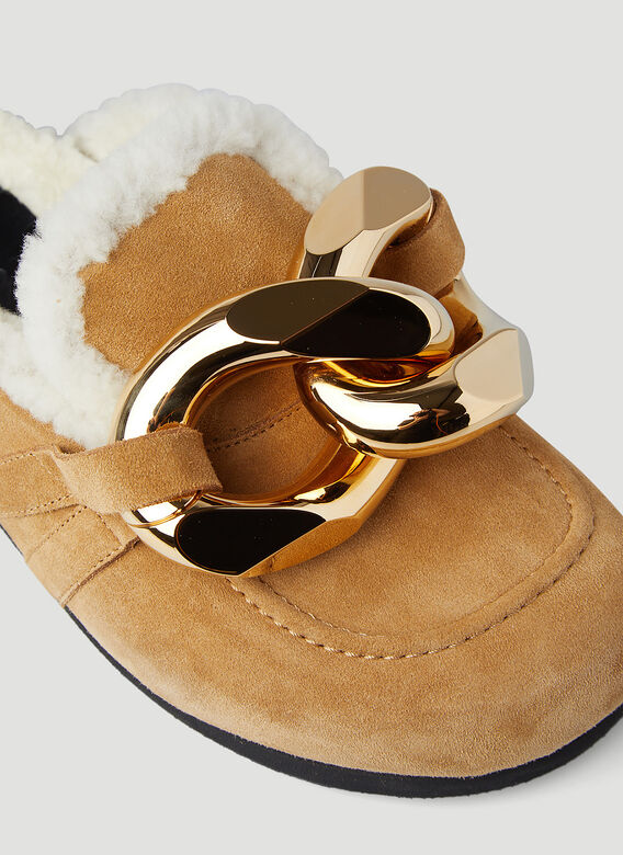 JW Anderson Chain Shearling Loafers 6