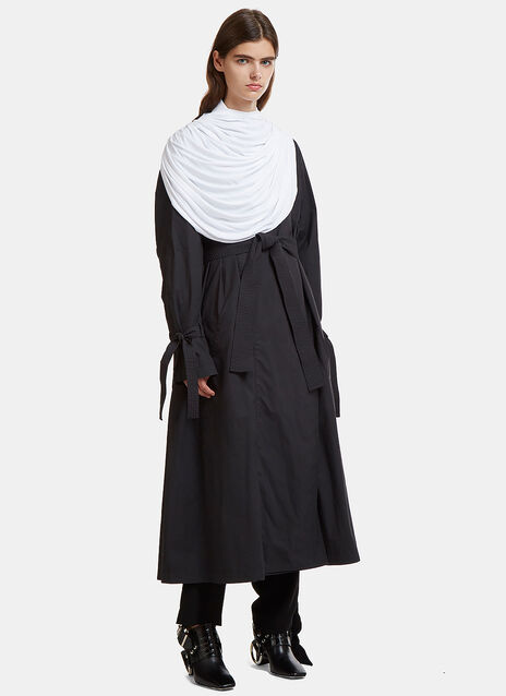 JW Anderson Draped Collar Trench Coat