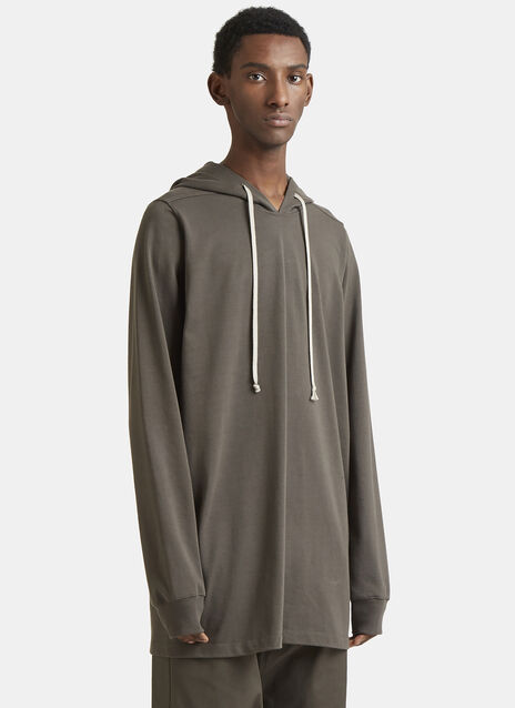 Rick Owens Oversized Drawstring Hooded Sweater