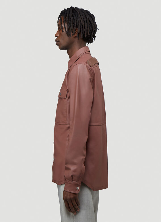 Rick Owens OUTER SHIRT LEATHER 3