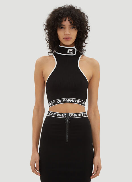 Off-White Cannette Turtleneck Crop Top