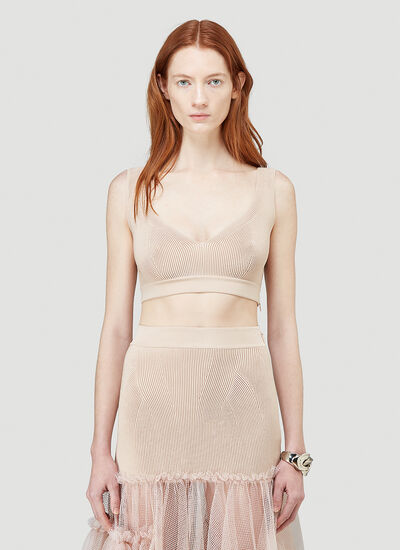 Alexander McQueen Ribbed Crop Top