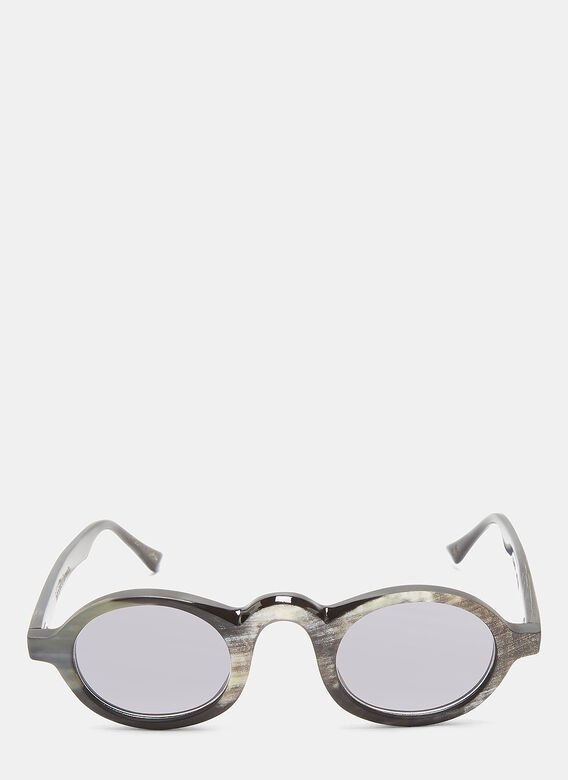 Rigards RG0054 Horn Oval Sunglasses