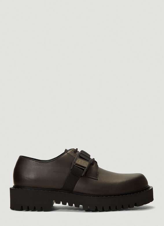 Valentino Buckle-Detail Lace-Up Shoes 1