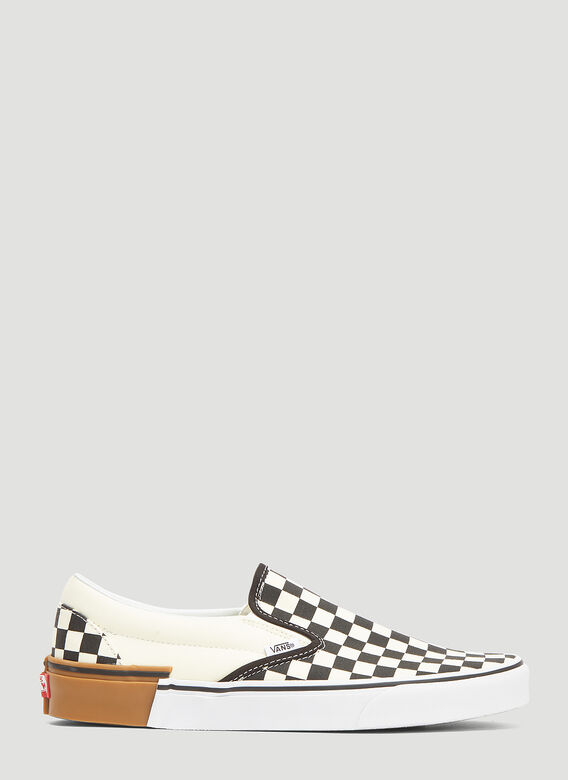 e34281d11d3 Gum Block Classic Slip-on Checkerboard Sneakers in Cream