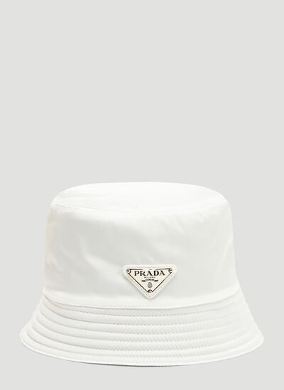 Prada Nylon Logo Bucket Hat