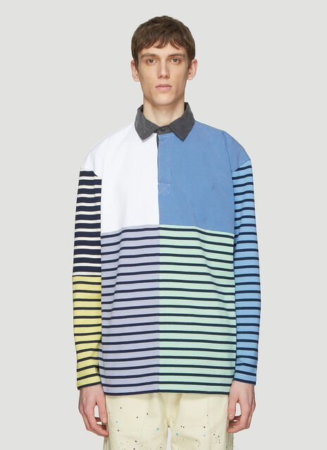 JW Anderson Patchwork Rugby Polo Shirt