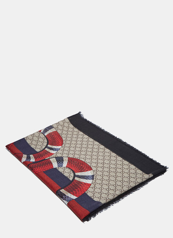 Gucci Serpent GG Jacquard Scarf