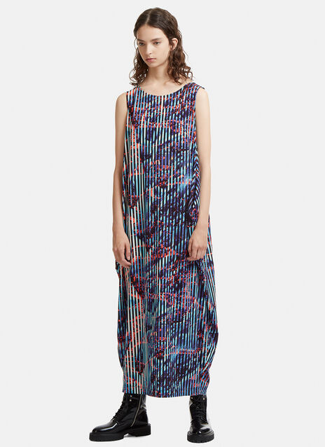 Double Stream Patterned  Jersey Dress